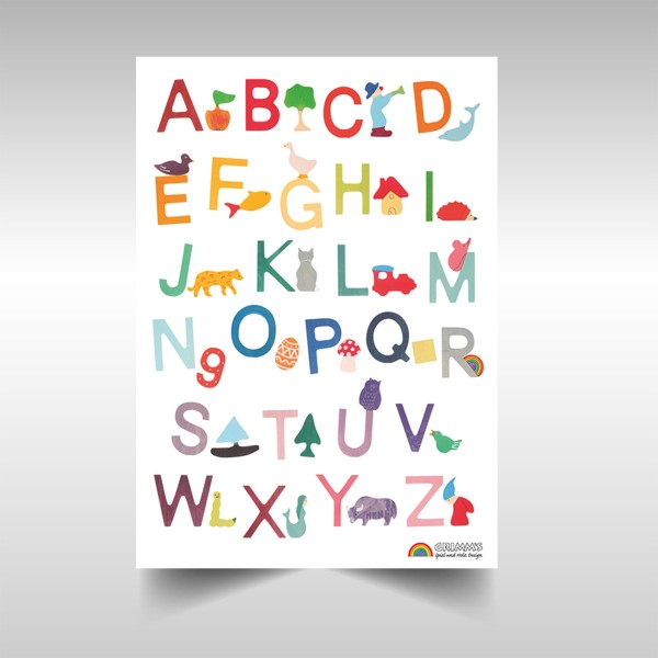 Grimms ABC Poster, Deutsch, VE: 1 Stck